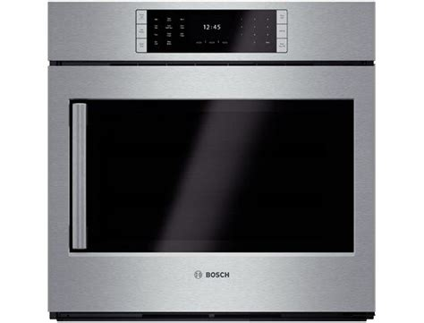 side swing oven oven bosch benchmark series side swing door for ease of