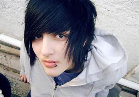 emo punk hairstyles 100 human hair emo men s wig jet black spiky messy