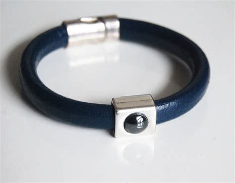 Gelang Dominica Leather Bracelets s blue licorice leather bracelets leather bracelets mens ferozasjewelery pinklion