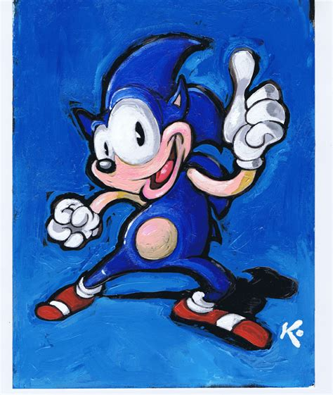 sonic painting sonic painting by miltonknight on deviantart