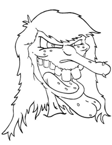 scary halloween witch coloring pages halloween coloring pages free scary halloween coloring
