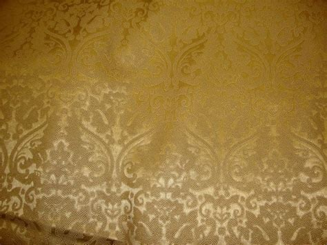 Gold Upholstery Fabric by Gold Parisian Embossed Damask Vinyl Upholstery Drapery