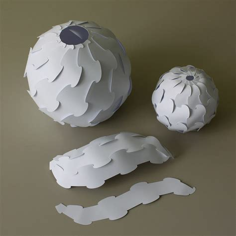 How To Make A Paper Sphere - make it 3d paper spheres ponoko ponoko