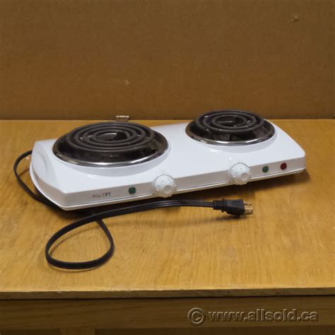 office hot plate salton white double burner electric hot plate allsold ca
