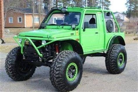 Lime Green Suzuki Lime Green Suzuki Samurai Rock Crawlers Diesels