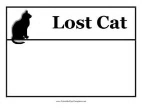lost template lost cat flyer