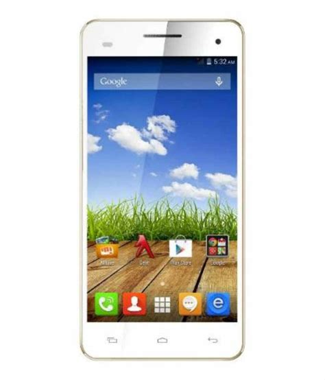 mobile hd micromax a190 canvas hd plus 4gb white mobile phones