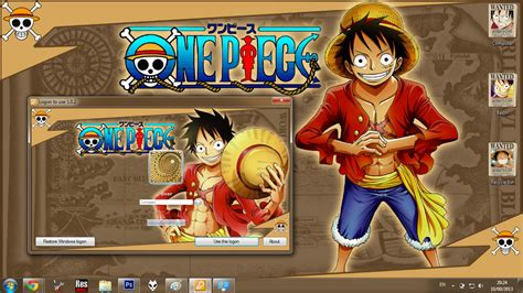 theme windows 10 one piece theme win 7 monkey d luffy new world one piece by bashkara