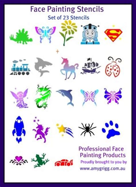 templates for face painting amy grigg face painting and supplies
