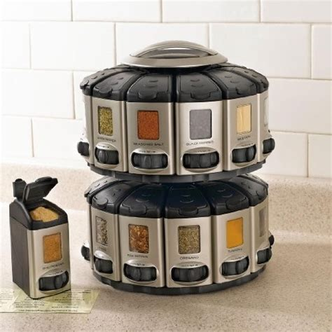 carousel spice racks for kitchen cabinets brylanehome space saver spice carousel with built in