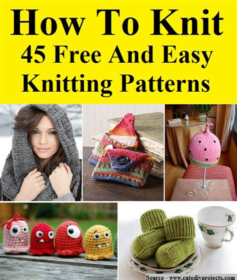 how to knit easy how to knit 45 free and easy knitting patterns home