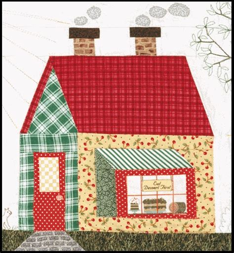 House Quilt Block by House Block Quilts Houses