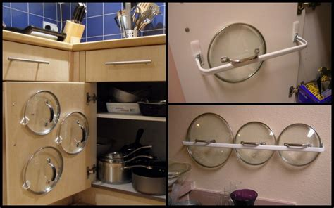 diy pot lid organizer kitchen remodel intended for property
