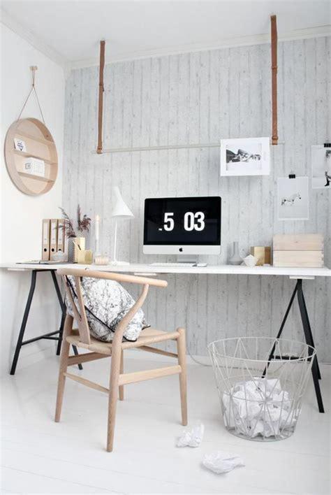 Maison En Bois Scandinave 4734 by Am 233 Nagement D Un Petit Espace De Travail Le Bureau Style