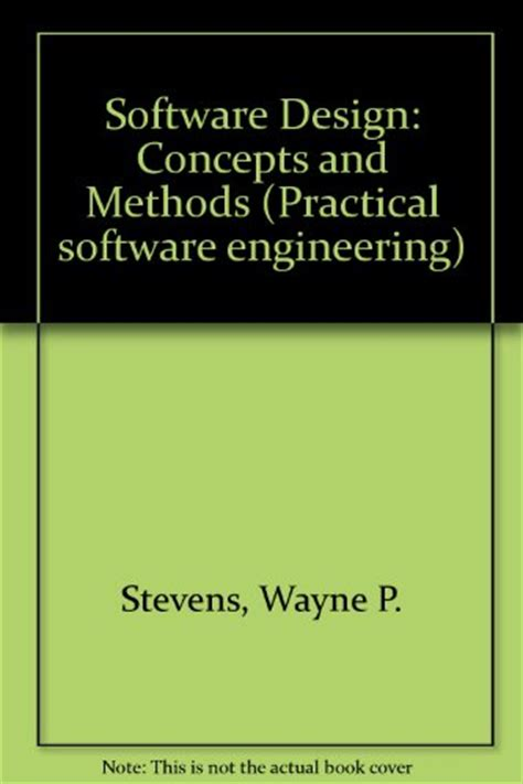 design concept methods software design concepts and methods practical software