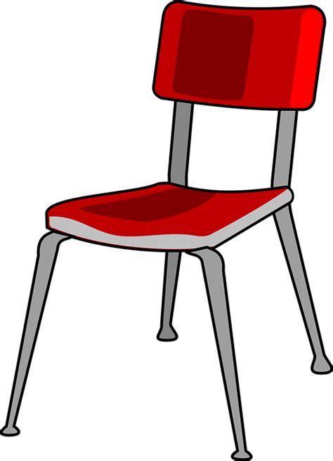 stuhl schule kostenlose vektorgrafik stuhl rot metall schule b 252 ro
