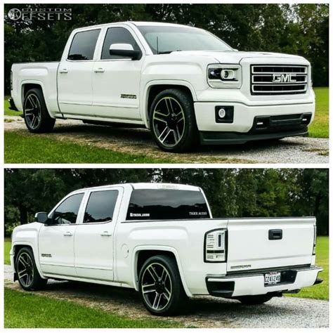 gmc lowered wheel offset 2014 gmc nearly flush lowered 3f 5r