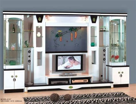 lcd tv showcase designs home decorating ideas