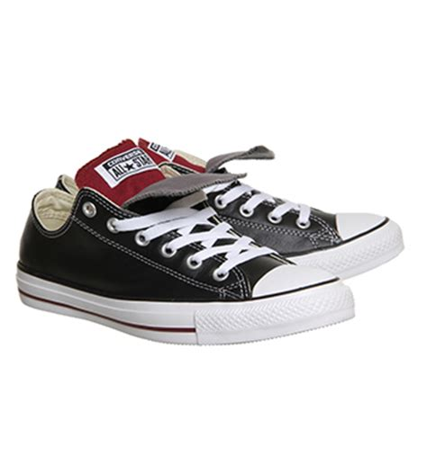 Sepatu Converse Low Maroon Unisex converse all low tongue leather black maroon navy unisex sports