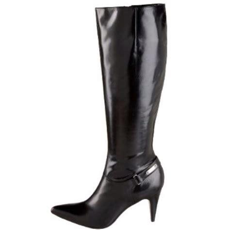 calvin klein high heel boots 81 calvin klein boots calvin klein liv black