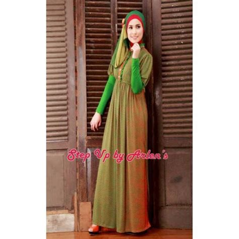 Gamis Jersey Busui Friendly Kode Fuschia su clarissa hijau baju muslim gamis modern