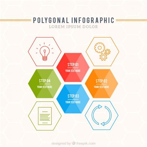 free eps format editor polygonal infographic template vector free download