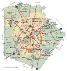 bexar county map bexar county almanac