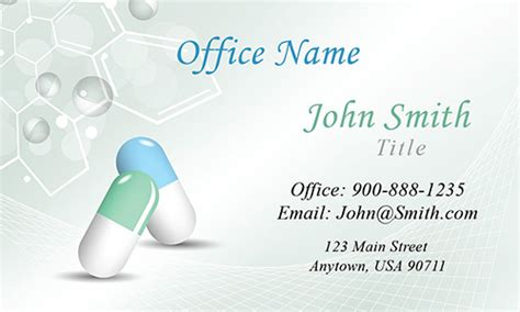 free pharmacy business card template pharmacy and pharmaceutical business card design 301161