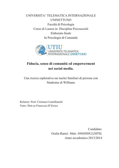 thesis abstract empowerment fiducia senso di comunit 224 ed empowerment pdf download