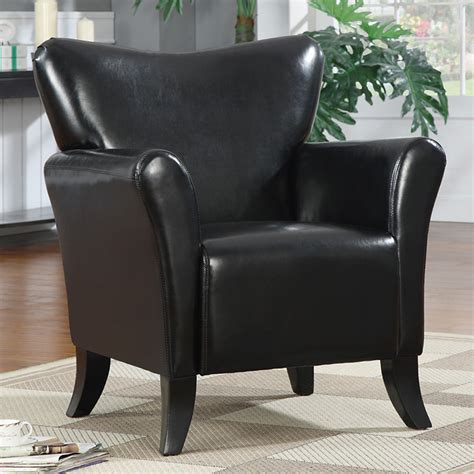 Vinyl Leather Sofa Living Black Leather Like Vinyl Stationary Accent Arm Chair Single Sofa Seat New Ebay