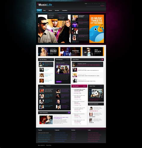 themes download mp3 music blog wordpress theme 40005