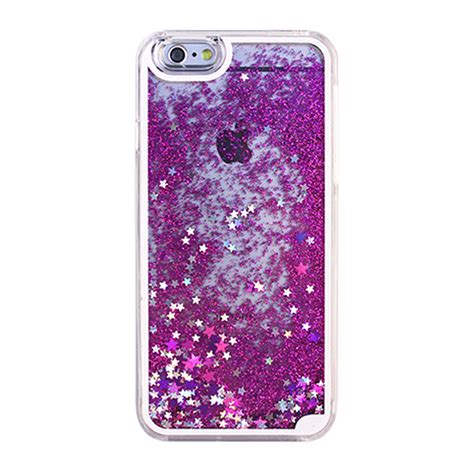 wholesale iphone  glitter shake star dust clear case purple