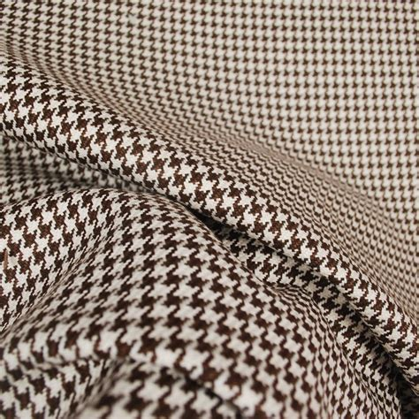 chocolate upholstery fabric d2918 houndstooth chocolate upholstery fabric ebay