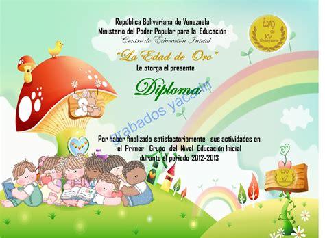 imagenes infantiles graduacion preescolar diplomas de graduaci 243 n para preescolar y primaria bs