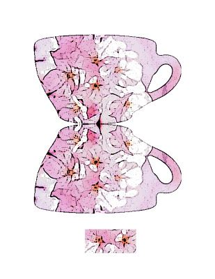 teacup s day card template zakka paper craft teacup card
