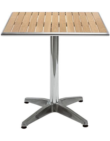 tavolo legno quadrato tavolo in alluminio e legno quadrato cm 70x70x78h