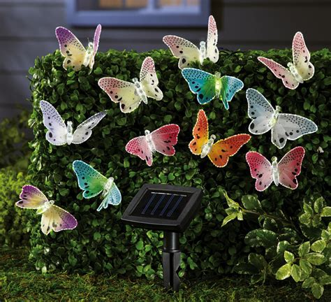 Butterfly Solar Lights Outdoor Solar Fiber Optic Butterfly String Lights Contemporary Outdoor Rope And String Lights By