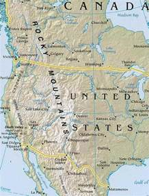 Rocky Mountains Usa Map by North America Map Geography Of North America Map Of