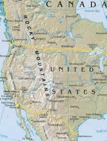 america map with mountains america map geography of america map of