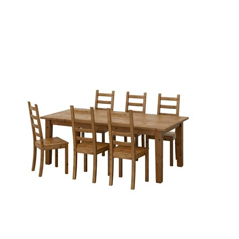 Ikea Dining Table Chairs Kaustby Storn 196 S Table And 6 Chairs Antique Stain 201 Cm Ikea
