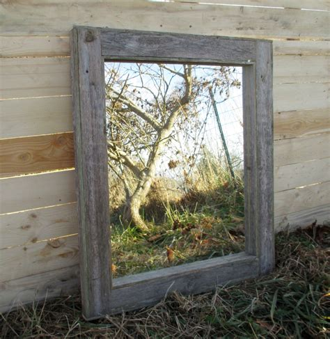 reclaimed wood mirror rustic lodge decor bathroom mirrors