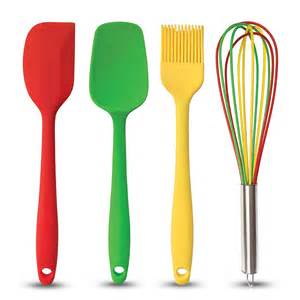 brightly colored silicone kitchen tools 2 75 ea at