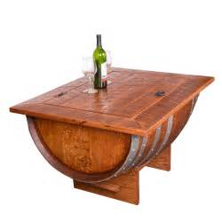 Wine Barrel Coffee Table Wine Barrel Distressed Finish Coffee Table