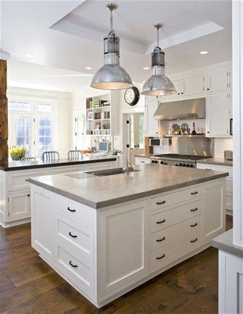 concrete kitchen countertops with white cabinets natural color concrete countertops for the home