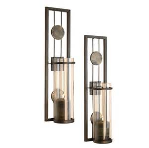 candle sconce set contemporary metal candle sconce set from danya b is sleek
