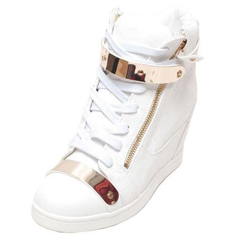 high top high heels epicsnob womens shoes high top wedge heel trainers