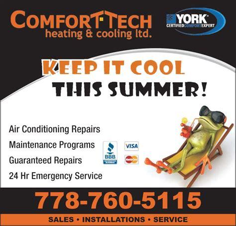 comfort tech air conditioning comfort tech heating cooling ltd kelowna bc 1750
