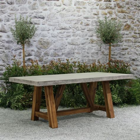 how to an outdoor table bordeaux table concrete top 94 furniture