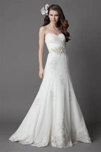 Strapless Wedding Dresses Strapless Lace Wedding Dresses For Romantic And