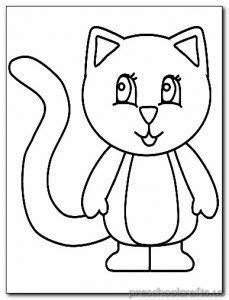 preschool coloring pages cats 37 best kitten coloring pages images on pinterest baby